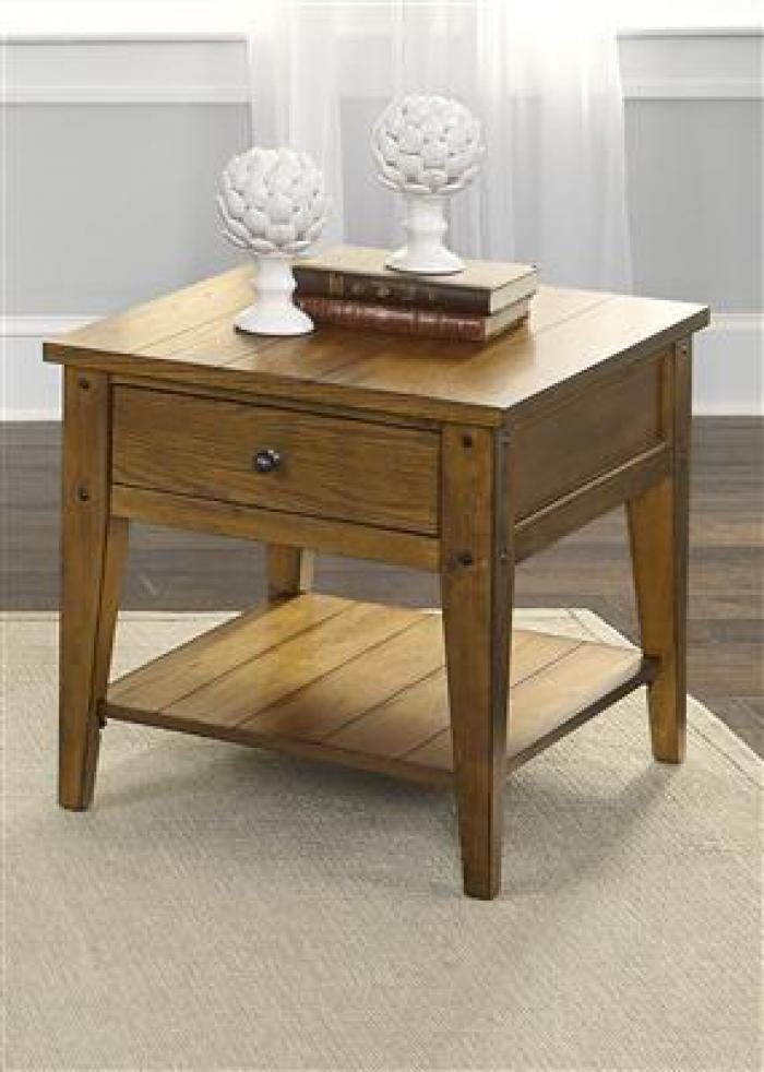 110 Lake House End Table ,Liberty Furniture Industries