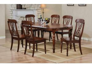 DP14278D Pelican Point Table w/ Butterfly Leaf & 6 chairs